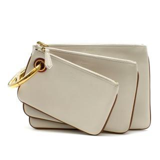 Fendi Triplette Wallet Set In White