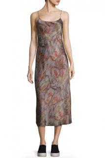 Vince Silk Watercolour Print Slip Dress
