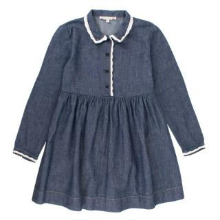 Bonpoint 6Yr Denim Shirt Dress