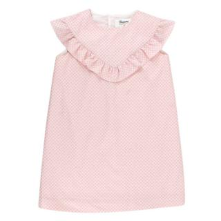 Bonpoint Pink Glitter Spotted Girls 6Y Dress
