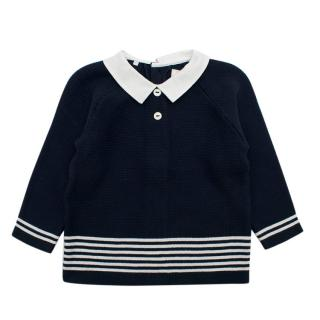 Emile Et Rose Navy Knit Cardigan