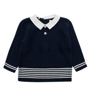 Emile Et Rose Navy Knit Cardigan