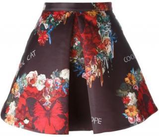 Philipp Plein floral & butterfly print skirt