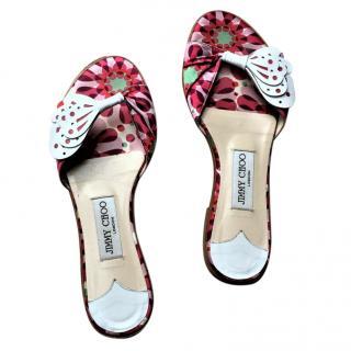 Jimmy Choo floral flat sandals