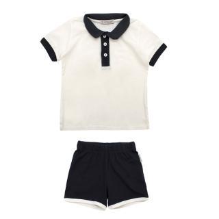 Moncler Polo Shirt and Shorts Baby Set