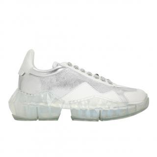 Jimmy Choo White & silver Diamond sneakers
