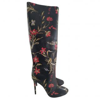 Balenciaga Leather Floral Boots