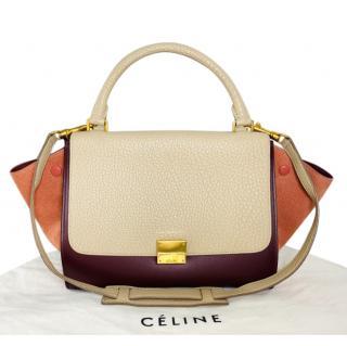 Celine Trapeze Tricolour shoulder bag