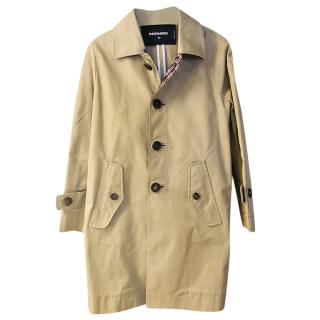 DSquared2 Camel A-Line Trench Coat