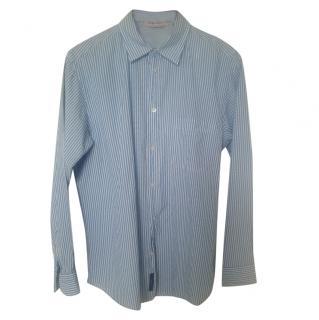 Zegna Sport Blue Striped Shirt