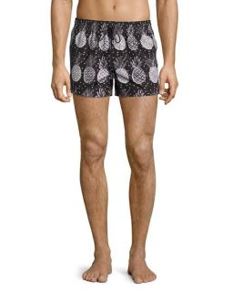 Dolce & Gabbana pineapple print swim shorts