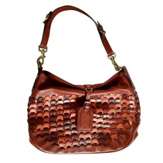 Mulberry Red Vintage Leather Hobo Bag