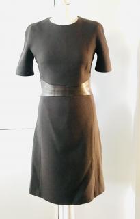 Michael Kors Wool Leather Trim Dress