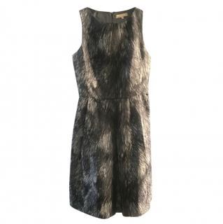 Michael Kors Grey Abstract Print Dress