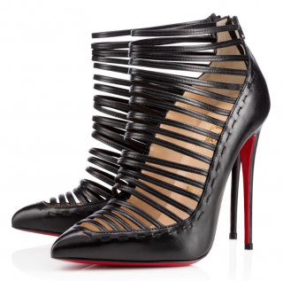 Christian Louboutin Kid Gortika 120 Strappy Booties