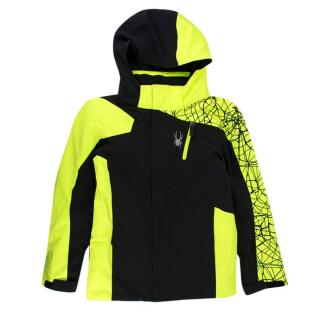 Spyder Kid's Black & Neon Yellow Insulated Jacket