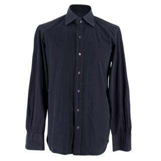 Tom Ford Navy Cotton Tailored Shirt