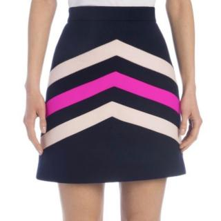 MSGM Pastel Stripe Wool Blend Mini Skirt