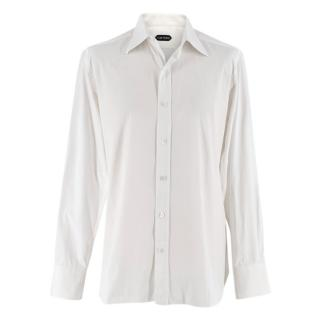 Tom Ford White Cotton Classic Long-Sleeved Shirt