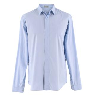 Dior Blue Striped Technical Cotton Shirt
