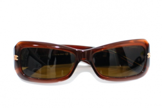 Chanel Brown Rectangle Sunglasses