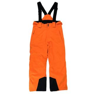 Kjus Neon Orange Waterproof Boy Vector Pants
