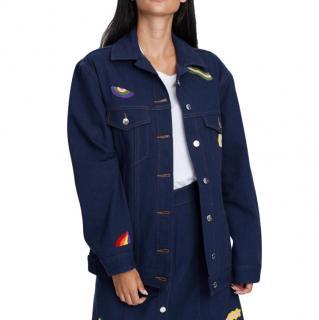 Etre Cecile Wavy Shapes Oversize Denim Jacket