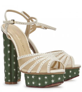 Charlotte Olympia Cactus Swarovski Embellished Sandals