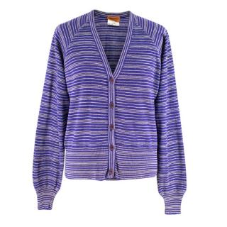 Missoni Purple Striped Knit Twin-Set