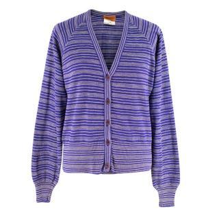 Missoni Purple Striped Knit Twin-Set