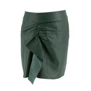 Designers Remix Charlotte Eskildsen Green Leather Skirt