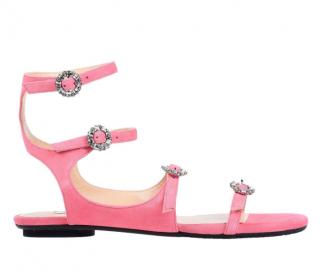 Jimmy Choo Women's Pink Naia Sandals