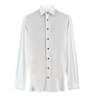 Zilli White Cotton Triple Stitch Shirt