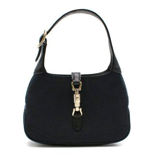 Gucci Black GG Canvas Mini Top Handle Bag