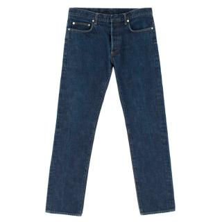 Christian Dior Blue Denim Straight Leg Jeans