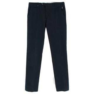 Corneliani Navy Wool Cord Trousers
