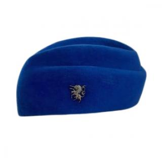 Philip Treacy Electric Blue Felt Hat