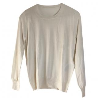 Dior White Cashmere & Silk Jumper