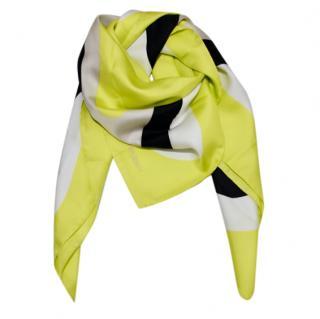 Marina Rinaldi Neon Yellow Silk Scarf