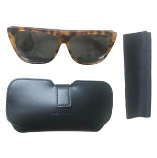 Saint Laurent flat top tortoiseshell sunglasses