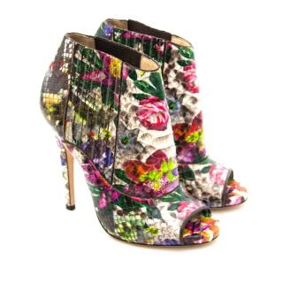 Jimmy Choo floral python blot boots