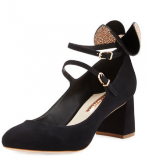 Sophia Webster Lilia Bow Suede 60Mm Mary Jane Pumps