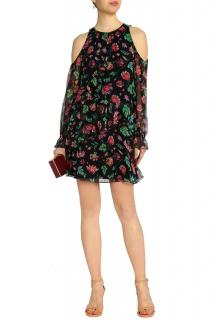Rachel Zoe Floral Print Ruffle Mini Dress