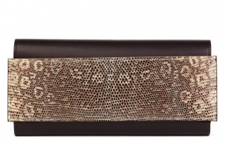 Hermes Evergrain & Natural Lizard Passant Long Wallet