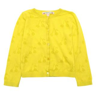 Bonpoint Yellow Cherry Cardigan