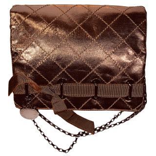Stella McCartney Bronze Quilted Shoulder Bag