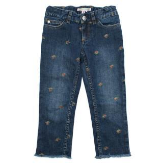 Bonpoint Floral Print Blue Jeans