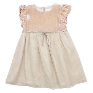 Marie Chantal Girls 12m Velvet & Tulle Dress