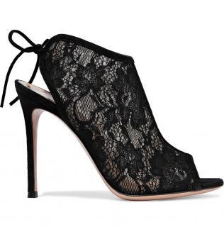 Gianvito Rossi Black Lace Raquel Booties