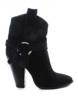 Isabel Marant Black Suede Harness Detail Boots